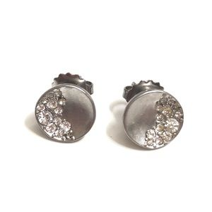 Lia Sophia sugar dusted silver stud earrings